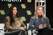 Kim Kardashian West and Jessica Jackson of 'The Justice Project' speaks onstage during the 2020 Winter TCA Tour Day 12  at The Langham Huntington, Pasadena on January 18, 2020 in Pasadena, California.