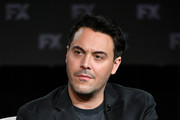 Jack Huston of 'Fargo' speaks during the FX segment of the 2020 Winter TCA Tour at The Langham Huntington, Pasadena on January 09, 2020 in Pasadena, California.