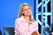 "Claire Danes of ""Homeland"" speaks during the Showtime segment of the 2020 Winter TCA Press Tour at The Langham Huntington, Pasadena on January 13, 2020 in Pasadena, California."