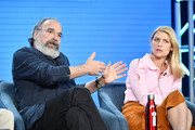 "Mandy Patinkin and Claire Danes of ""Homeland"" speak during the Showtime segment of the 2020 Winter TCA Press Tour at The Langham Huntington, Pasadena on January 13, 2020 in Pasadena, California."