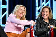 "Claire Danes and Lesli Linka Glatter of ""Homeland"" speak during the Showtime segment of the 2020 Winter TCA Press Tour at The Langham Huntington, Pasadena on January 13, 2020 in Pasadena, California."