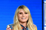 Heidi Klum of Amazon Prime's 'Making the Cut' speaks onstage during the 2020 Winter TCA Tour Day 8 at The Langham Huntington, Pasadena on January 14, 2020 in Pasadena, California.