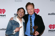 (FOR EDITORIAL USE ONLY) (L-R) Jack O'Brien and Conan O'Brien, winner of the Best Comedy Podcast award for 'Conan O'Brien Needs A Friend,' attends the 2020 iHeartRadio Podcast Awards at the iHeartRadio Theater on January 17, 2020 in Burbank, California.