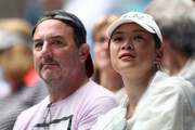 Spectators watch the Women's Singles first round match between Venus Williams of The United States of America and Kirsten Flipkens of Belgium on Margaret Court Arena during day one of the 2021 Australian Open at Melbourne Park on February 08, 2021 in Melbourne, Australia.