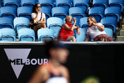 Spectators watch the Women's Singles second round match between Belinda Bencic of Switzerland and Svetlana Kuznetsova of Russia during day four of the 2021 Australian Open at Melbourne Park on February 11, 2021 in Melbourne, Australia.