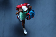 Venus Williams of The United States of America walks off the court after losing her Women's Singles second round match against Sara Errani of Italy during day three of the 2021 Australian Open at Melbourne Park on February 10, 2021 in Melbourne, Australia.