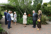 Prince Charles, Prince of Wales, Camilla, Duchess of Cornwall, Queen Elizabeth II, Prince William, Duke of Cambridge, Catherine, Duchess of Cambridge, British Prime Minister Boris Johnson and wife Carrie Johnson arrive for a drinks reception for Queen Elizabeth II and G7 leaders at The Eden Project during the G7 Summit on June 11, 2021 in St Austell, Cornwall, England. UK Prime Minister, Boris Johnson, hosts leaders from the USA, Japan, Germany, France, Italy and Canada at the G7 Summit. This year the UK has invited India, South Africa, and South Korea to attend the Leaders' Summit as guest countries as well as the EU.