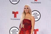 Carrie Underwood attends the 2021 Latin American Music Awards at BB&T Center on April 15, 2021 in Sunrise, Florida.
