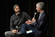 Director John Ridley and moderator Scott Mantz onstage at 'Let It Fall' Q&A during 20th Anniversary SCAD Savannah Film Festival on October 30, 2017 in Savannah, Georgia.