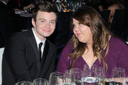 Actor Chris Colfer and actress Ashley Fink attend the 20th Annual Elton John AIDS Foundation Academy Awards Viewing Party at The City of West Hollywood Park on February 26, 2012 in Beverly Hills, California.