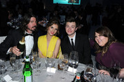 Musician Dave Grohl, Jordyn Blum , actors Chris Colfer and Ashley Fink attend the 20th Annual Elton John AIDS Foundation Academy Awards Viewing Party at The City of West Hollywood Park on February 26, 2012 in Beverly Hills, California.