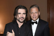 (L-R) Juanes and Michael Benavente attend the Latin Recording Academy's 2019 Person of the Year gala honoring Juanes at the Premier Ballroom at MGM Grand Hotel & Casino on November 13, 2019 in Las Vegas, Nevada.