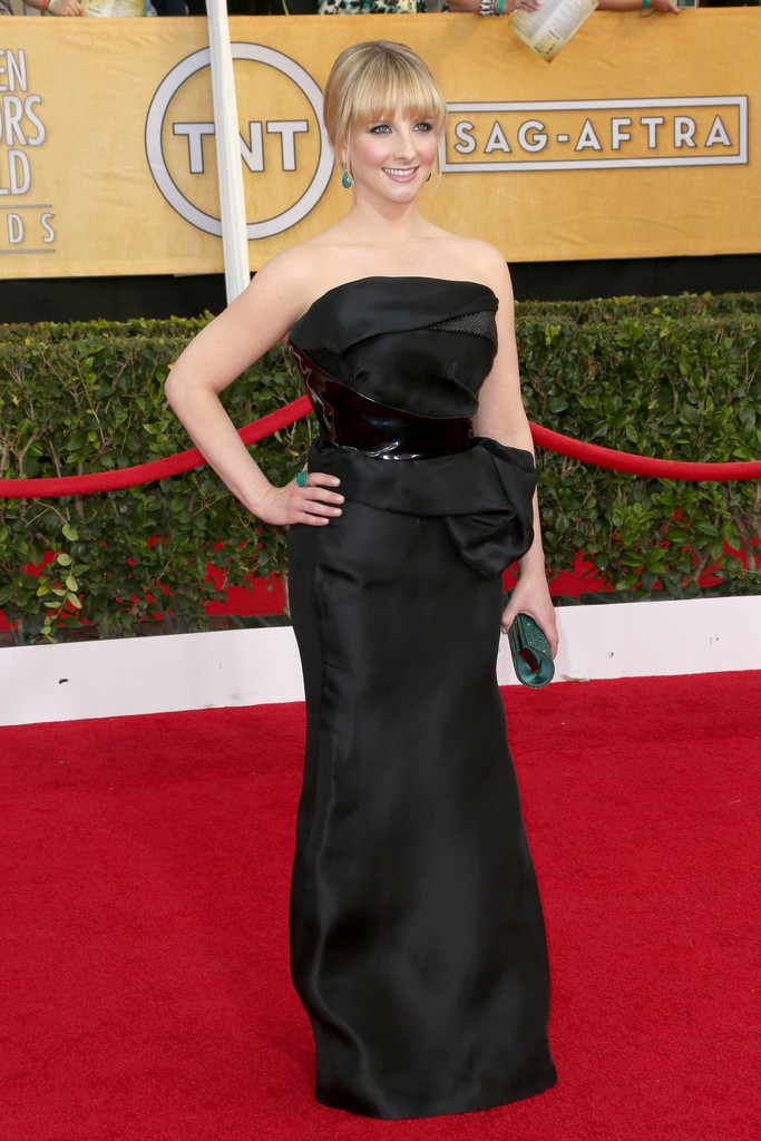 Actress Melissa Rauch attends the 20th Annual Screen Actors Guild Awards at The Shrine Auditorium on January 18, 2014 in Los Angeles, California.