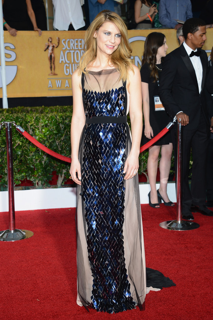 Actress Claire Danes attends the 20th Annual Screen Actors Guild Awards at The Shrine Auditorium on January 18, 2014 in Los Angeles, California.
