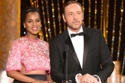 Actors Kerry Washington (L) and Kevin Spacey speak onstage during the 20th Annual Screen Actors Guild Awards at The Shrine Auditorium on January 18, 2014 in Los Angeles, California.