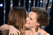 Actor Jared Leto (L) accepts the Outstanding Performance by a Male Actor in a Supporting Role award for 'Dallas Buyers Club' from actress Jennifer Garner onstage during the 20th Annual Screen Actors Guild Awards at The Shrine Auditorium on January 18, 2014 in Los Angeles, California.