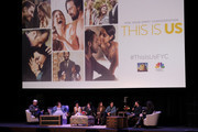 """Chris Sullivan ,Chrissy Metz, Susan Kelechi Watson, Justin Hartley, Mandy Moore, Milo Ventimiglia attend 20th Century Fox Television And NBC's """"This Is Us"""" FYC Screening And Panel at The Theatre at Ace Hotel on May 29, 2018 in Los Angeles, California."""