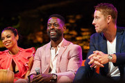 "(L-R) Susan Kelechi, Sterling K. Brown and Justin Hartley participate in the 20th Century Fox Television and NBC Present ""This Is Us"" FYC Event at John Anson Ford Amphitheatre on June 06, 2019 in Hollywood, California."