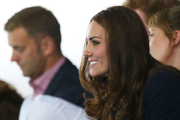 Catherine, Duchess of Cambridge attends the evening session at Tollcross International Swimming Centre during day five of the Glasgow 2014 Commonwealth Games on July 28, 2014 in Glasgow, Scotland.