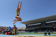 Carolina Kluft of Sweden competes in the Womens Long Jump Qualifying during day one of the 20th European Athletics Championships at the Olympic Stadium on July 27, 2010 in Barcelona, Spain.