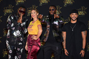 (L-R) Maitre Gims, Vitaa, Dadju and Slimane arrive at the 20th NRJ Music Awards at Palais des Festivals on November 10, 2018 in Cannes, France.