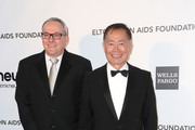Brad Altman and actor George Takei arrive at the 21st Annual Elton John AIDS Foundation's Oscar Viewing Party on February 24, 2013 in Los Angeles, California.