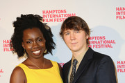 Actors Adepero Oduye (L) and Paul Dano attend the 21st Annual Hamptons International Film Festival Closing Day on October 14, 2013 in East Hampton, New York.