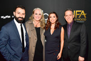 Actor Eva Longoria (2nd from R) poses with honorees (from L) Adrian Molina, Darla K. Anderson, and Lee Unkrich during the 21st Annual Hollywood Film Awards at The Beverly Hilton Hotel on November 5, 2017 in Beverly Hills, California.
