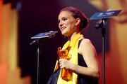 Actress Natalie Portman accepts an award onstage during the 21st Annual Huading Global Film Awards at The Theatre at Ace Hotel on December 15, 2016 in Los Angeles, California.