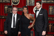 (L-R) Actors Kevin Dunn, Sufe Bradshaw, and Timothy Simons attend the 21st Annual Screen Actors Guild Awards at The Shrine Auditorium on January 25, 2015 in Los Angeles, California.