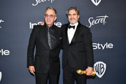 (L-R) Tim Allen and Joaquin Phoenix attend the 21st Annual Warner Bros. And InStyle Golden Globe After Party at The Beverly Hilton Hotel on January 05, 2020 in Beverly Hills, California.