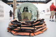 """The artwork """"Crystal Ball"""" by artist Ai Weiwei which part of the 31st Biennale of Sydney is seen at Art Space on March 13, 2018 in Sydney, Australia."""
