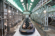 The installation 'Law of the Journey' by artist Ai Weiwei is seen as part of the 31st Biennale of Sydney at Cockatoo Island on March 13, 2018 in Sydney, Australia.