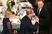Actor Kevin Spacey (R) attends The 22nd Annual Screen Actors Guild Awards at The Shrine Auditorium on January 30, 2016 in Los Angeles, California.