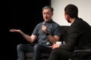 Alan Cumming (L) speaks onstage at In Conversation With Alan Cumming during the 22nd SCAD Savannah Film Festival on October 29, 2019 at SCAD Museum of Art in Savannah, Georgia.