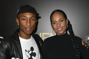Pharrell Williams (L), winner of the Hollywood Song Award poses in the press room with Alicia Keys during the 23rd Annual Hollywood Film Awards at The Beverly Hilton Hotel on November 03, 2019 in Beverly Hills, California.