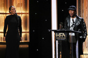 Alicia Keys and Pharrell Williams  appear on stage at the 23rd Annual Hollywood Film Awards show at The Beverly Hilton Hotel on November 03, 2019 in Beverly Hills, California.