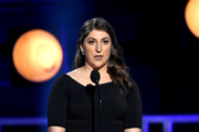 Mayim Bialik speaks onstage during the 24th annual Critics' Choice Awards at Barker Hangar on January 13, 2019 in Santa Monica, California.