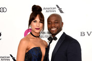 Amanza Smith and Taye Diggs attend the 24th Annual Elton John AIDS Foundation's Oscar Viewing Party at The City of West Hollywood Park on February 28, 2016 in West Hollywood, California.