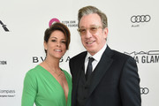 Actors Jane Hajduk (L) and Tim Allen attend the 24th Annual Elton John AIDS Foundation's Oscar Viewing Party at The City of West Hollywood Park on February 28, 2016 in West Hollywood, California.