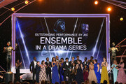 """The cast of """"This Is Us"""" onstage during the 24th Annual Screen ActorsGuild Awards at The Shrine Auditorium on January 21, 2018 in Los Angeles, California."""