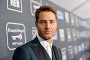 Justin Hartley attends the 25th Annual Critics' Choice Awards at Barker Hangar on January 12, 2020 in Santa Monica, California.