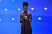 Lupita Nyong'o speaks onstage during the 25th Annual Critics' Choice Awards at Barker Hangar on January 12, 2020 in Santa Monica, California.