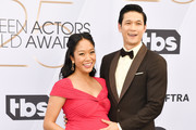 Shelby Rabara(L) and Harry Shum Jr. arrive at 25th Annual Screen Actors Guild Awards The Shrine Auditorium on January 27, 2019 in Los Angeles, California.