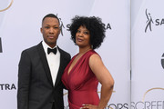 Corey Hawkins (L) attends the 25th Annual Screen ActorsGuild Awards at The Shrine Auditorium on January 27, 2019 in Los Angeles, California.