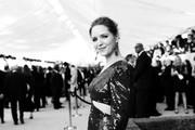 Image has been shot in black and white. Color version not available.) Jordana Spiro attends the 25th Annual Screen Actors Guild Awards at The Shrine Auditorium on January 27, 2019 in Los Angeles, California. 480518