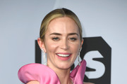 Emily Blunt, winner of Outstanding Performance by a Female Actor in a Supporting Role for 'A Quiet Place,' poses in the press room during the 25th Annual Screen ActorsGuild Awards at The Shrine Auditorium on January 27, 2019 in Los Angeles, California.