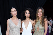 (L-R) Adriana Lima, Shanina Shaik, and  Heidi Klum attend the 26th annual Elton John AIDS Foundation Academy Awards Viewing Party sponsored by Bulgari, celebrating EJAF and the 90th Academy Awards at The City of West Hollywood Park on March 4, 2018 in West Hollywood, California.