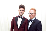 Justin Mikita (L) and Jesse Tyler Ferguson attend the 26th annual Elton John AIDS Foundation Academy Awards Viewing Party with cocktails by Clase Azul Tequila at The City of West Hollywood Park on March 4, 2018 in West Hollywood, California.