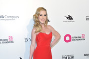 Tara Lipinski attends the 26th annual Elton John AIDS Foundation's Academy Awards Viewing Party at The City of West Hollywood Park on March 4, 2018 in West Hollywood, California.